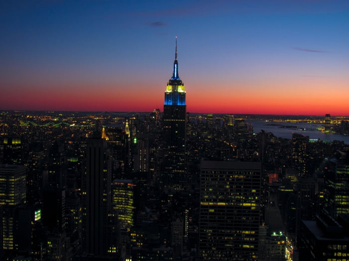 New York Empire State Building Sunset